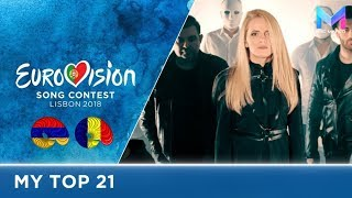 Eurovision 2018 - MY TOP 21 (so far) | & comments