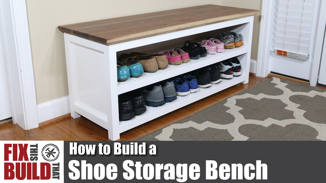 Storage Bench Ideas Part - 36: DIY Shoe Storage Bench | How To Build - YouTube