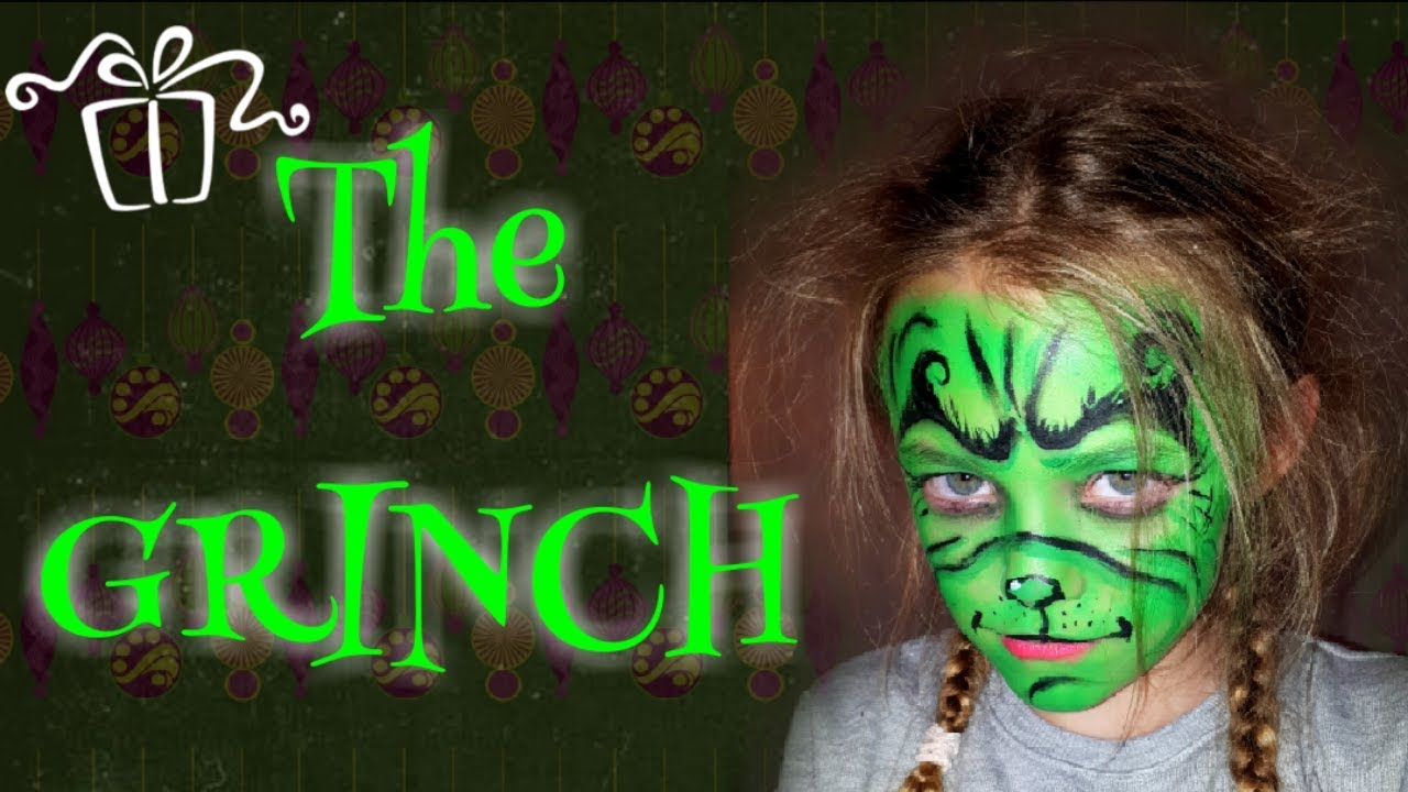 The Grinch Face Paint Tutorial Face Paint For Kids Christmas Painting Ideas The Grinch Youtube