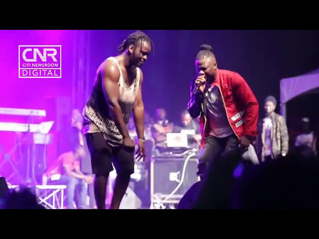 Stonebwoy and Jupitar deliver perfect ragga freestyle at Independence Concert