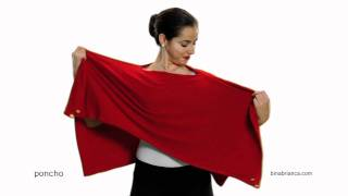 Red Poncho Scarves - How to Make The Bina a Poncho