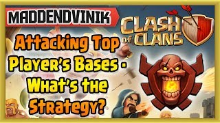 Clash of Clans - Attacking Top Player's Bases - Strategy for Success (Gameplay Commentary)