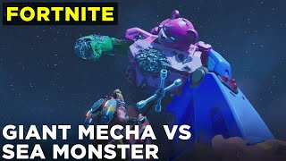 Fortnite mecha vs sea monster battle event (FULL gameplay, no commentary)