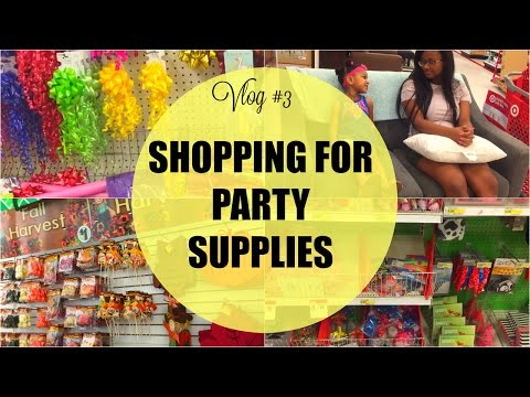 SHOPPING FOR MORE PARTY SUPPLIES! TARGET | DOLLAR TREE