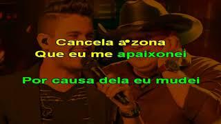 Humberto e Ronaldo - Cancela a Zona - karaoke