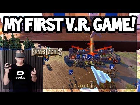 MY FIRST VR EXPERIENCE! Brass Tactics on Oculus Rift! WOW!