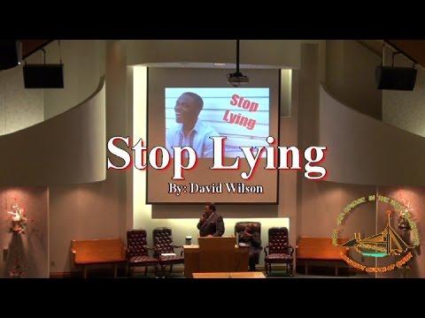 Stop Lying - David Wilson