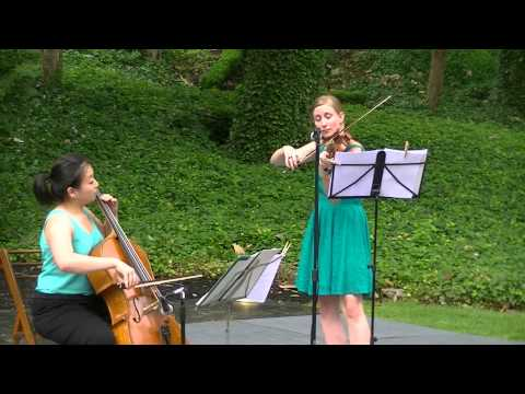 Bartok Hungarian folksong -- violin and cello