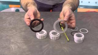 "2"" Hot Tub Pump & Heater Union Gaskets How To The Spa Guy Video"