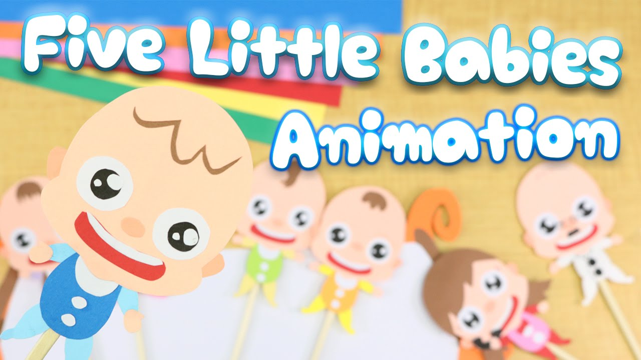 Five Little Baby Jumping On The Bed Nursery Rhyme