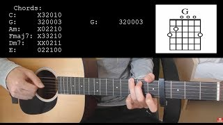 Alan Walker, Sabrina Carpenter, Farruko - On My Way EASY Guitar Tutorial With Chords / Lyrics