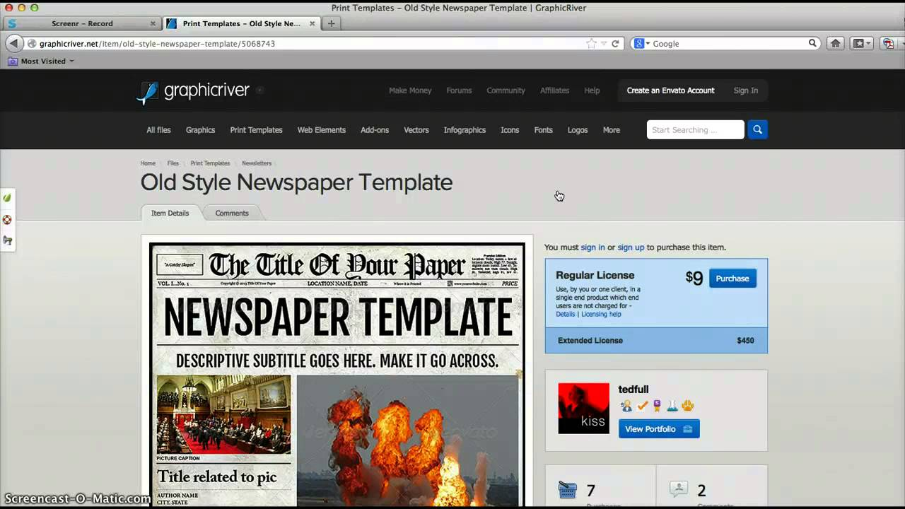 newspaper template for adobe indesign cs6 - YouTube