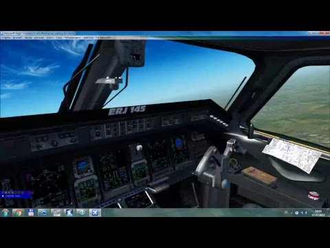 FSX Dniproavia EMBRAER E145 Charter flight from Odesa to Trabzon   UKOO-LTCG   START UP, TAKE OFF