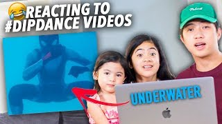 Dip Dance Challenge Underwater?! (Reaction Video) | Ranz and Niana