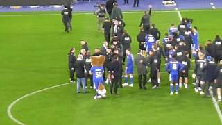 Leicester City vs Burnley 2018 - Post match march around ground part 1