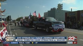 Annual Veterans Day Parade takes over Downtown Bakersfield