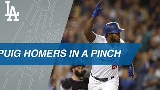 Yasiel Puig belts a pinch-hit, go-ahead HR in the 7th