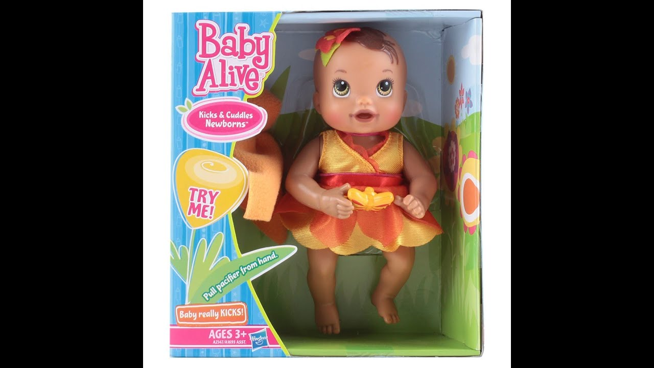 Unboxing Baby Alive Kicks Amp Cuddles Newborns Youtube