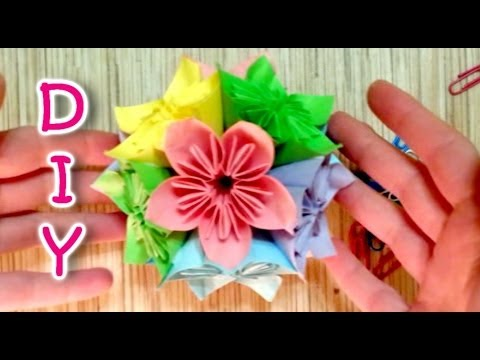 kusudama flower - Google Search | Origami easy, Cute origami ... | 360x480