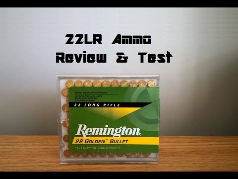22lr Remignton 22 Golden Bullet 40G Ammo Review \u0026 Accuracy Test