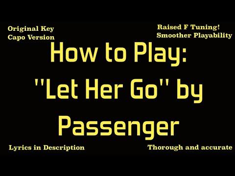 Let Her Go Passenger Acoustic Guitar Tutorial Youtube
