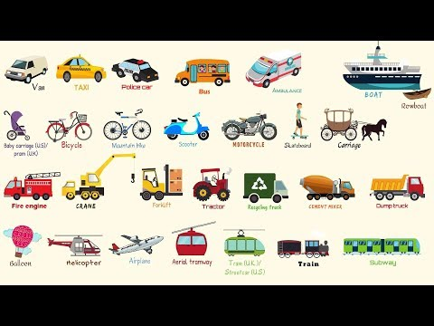 Learn Vehicles Names in English | Modes of Transportation Vocabulary