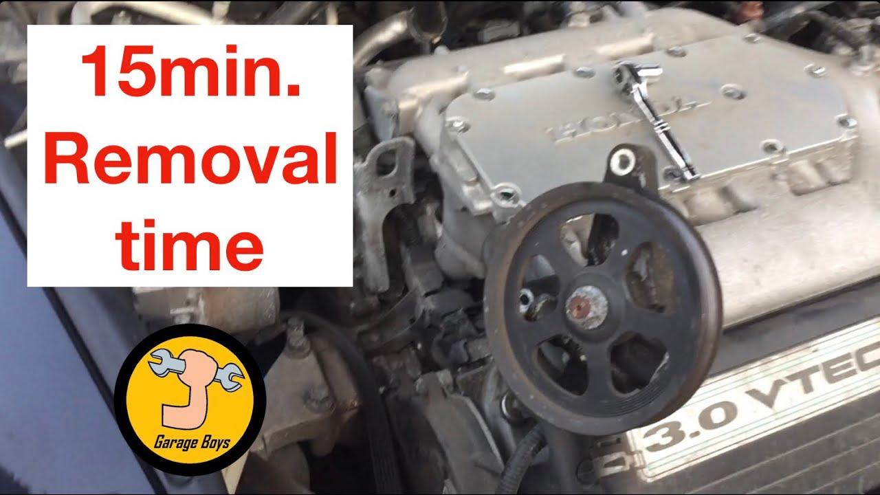 How To Remove Steering Pump On 2003 2007 Honda Accord V6