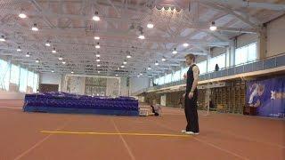 Прыжок в длину с места 315 сантиметров, личный рекорд 335