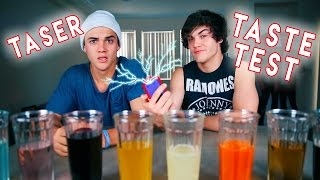 We tasted a variety of unique sodas and if you guessed the flavor incorrectly you got SHOCKED BY A TASER!! We keep getting the flavors wrong as the vid goes ...