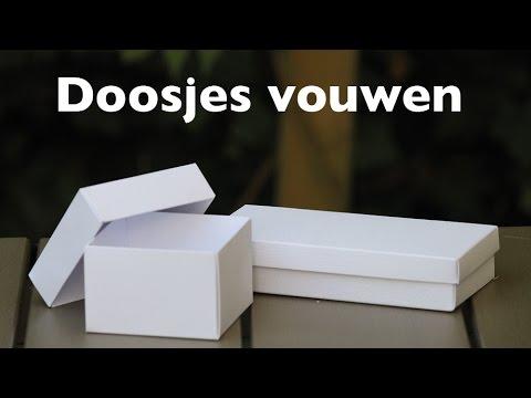 het vouwen van de kado doosjes - youtube