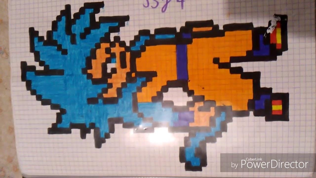 Pixel Art Goku Super Saiyan Blue Ssj 4 Youtube