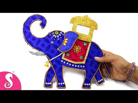 DIY Elephant Wall Hanging from Cardboard for Home Decor | Sonali's Creations #84
