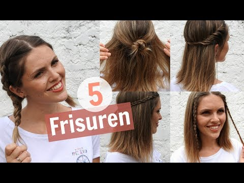 5 easy frisuren f r mittellanges haar marahonig youtube. Black Bedroom Furniture Sets. Home Design Ideas
