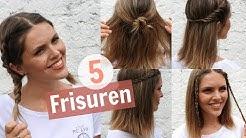 5 easy Frisuren für mittellanges Haar | marahonig