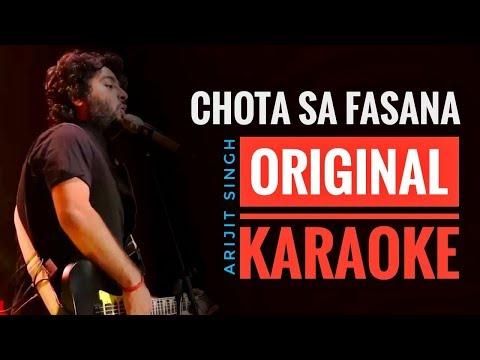 Chota Sa Fasana Karaoke With Lyrics | Arijit Singh | Karwaan | Irfan Khan