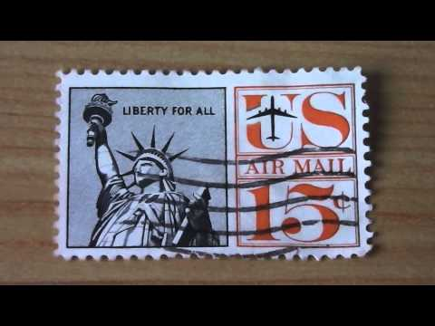 US Air Mail - Liberty for all Postage Stamp