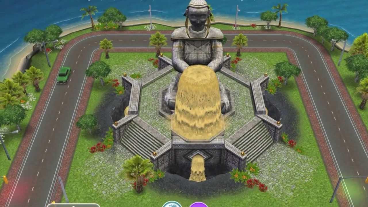 Sims FreePlay Mystery Island- Unlocking The Bridge - YouTube