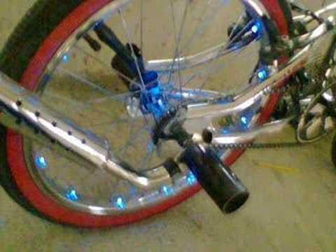 Creador de los rines con iluminacion tuning youtube - Pintar llantas bici ...
