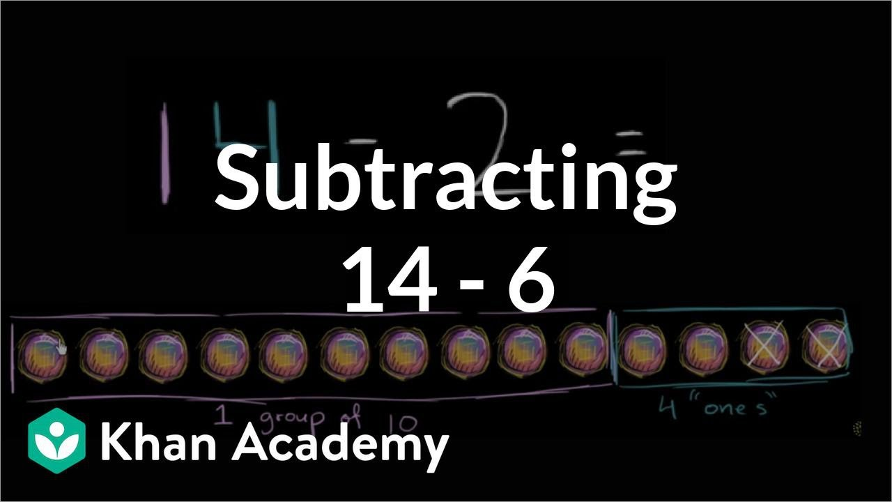 Worksheet Khan Academy Subtraction subtracting 14 6 addition and subtraction within 20 early math khan academy