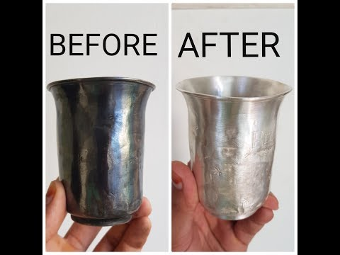 How to clean silverware, pooja idols at home.