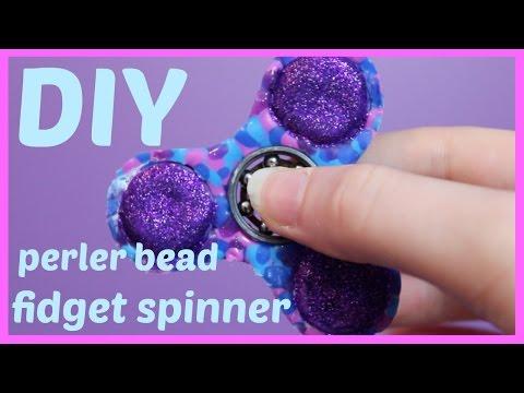 DIY Fidget Spinner using Perler Beads (Hama Beads)
