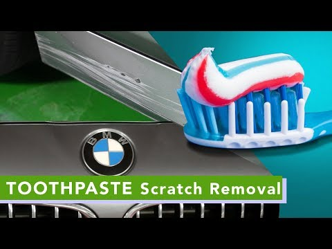 How to REMOVE Paint Scratch on CARS l DIY Toothpaste Scratch Removal