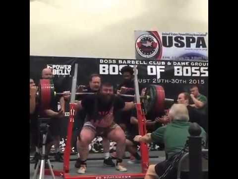 881 lb / 400 kg Raw Squat @ 308 /140 kgs  - Robb Philippus