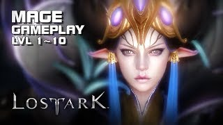 Lost Ark - Mage lvl 1~10 - Starting Zone Gameplay - Final CBT - PC - F2P - KR