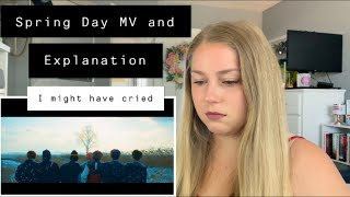 """First Time Reaction to """"Spring Day"""" by BTS Music Video and Explanation Video"""