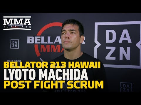 Lyoto Machida says he felt 'kind of lost' early in Bellator debut