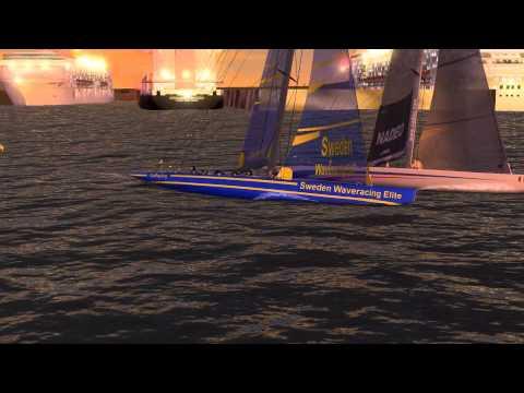Virtual Skipper 5: Bergerheim Marina Qingdao Portrace 2 2014. Simulation (Annotated).