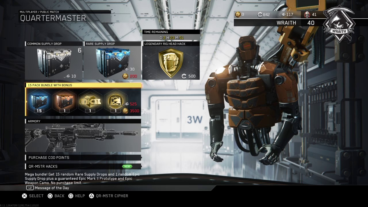 how to get to quartermaster in infinite warfare