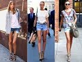 The grown up way to wear jean shorts