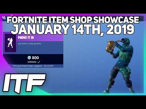 Fortnite Item Shop PHONE IT IN EMOTE IS BACK! [January 14th, 2019] (Fortnite Battle Royale)